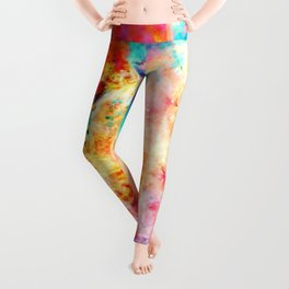 Colorful Abstract Nebula Leggings
