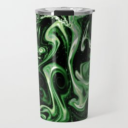 Aromantic Pride Smokey Ink Swirls Design Travel Mug