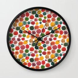 Rainbow Candy Dots Wall Clock