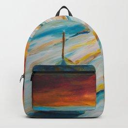 Snowy field - painting series Backpack