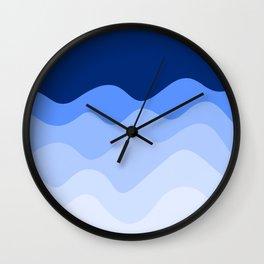 Abstract Waves - Blue Wall Clock