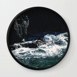 Dark Oceanic Cliff Wall Clock