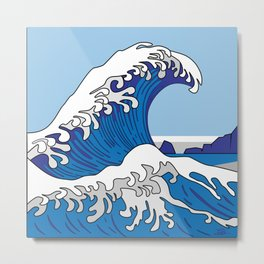 Great Wave of Humboldt - Daytime Metal Print