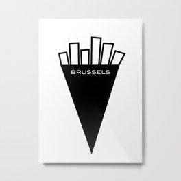 Fries From Brussels Belgium Metal Print