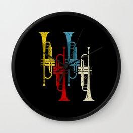 Retro Trumpet Musician Trumpeter Jazz Wall Clock