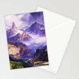 Index Peak, Yellowstone, Wyoming landscape alpine painting by Thomas Moran Stationery Cards