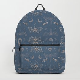 Moths and dragonflies - witch pattern Backpack