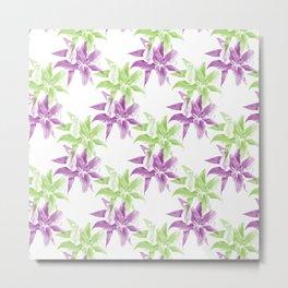 colored lilies pattern 2 Metal Print
