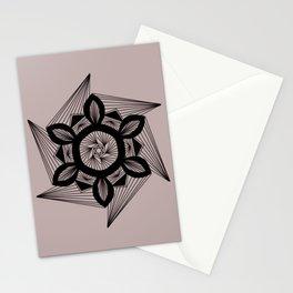 WHITE PATTERN CIRCLE Stationery Cards