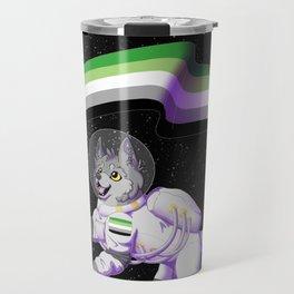 Aromantic Pride Space-Wolf Travel Mug