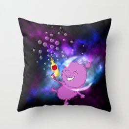 Bubblegun Alien Pop! Throw Pillow