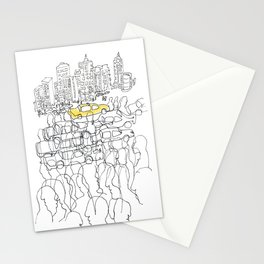 NYC yellow cab Stationery Cards