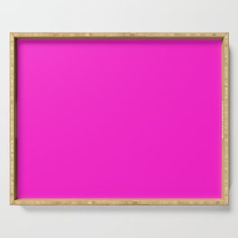 From The Crayon Box – Hot Magenta - Bright Neon Pink Purple Solid Color Serving Tray