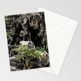Charming Miniature Garden at the the Ngoc Son Temple at Hoan Kiem Lake in Hanoi, Vietnam Stationery Cards