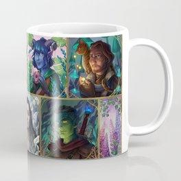 The Mighty Nein With Flowers Coffee Mug