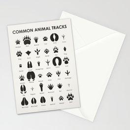 Common Animal Tracks Stationery Cards