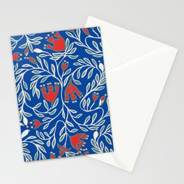 swedish christmas blue Stationery Cards