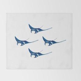 raie manta - manta ray - plongée - diver - diving - dive - globula Throw Blanket