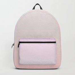 Pastel Millennial Pink Beige Ombre Gradient Pattern Backpack