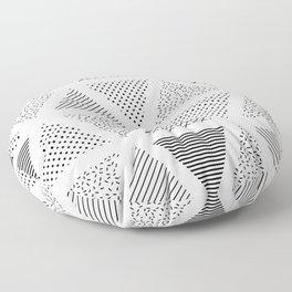 3. Patern in memphis, pop art style Floor Pillow