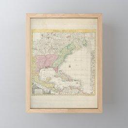 Amerique septentrionale  -  suivent la carte de Pople faitea Londres en 20 feuilles Framed Mini Art Print