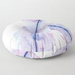 Gradient Watercolor Feathers Floor Pillow