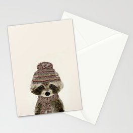 little indy raccoon Stationery Cards