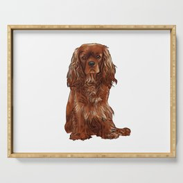 Cavalier King Charles Spaniel - Ruby Serving Tray