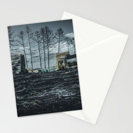 Poltery Site (Wood Storage Area) After Storm Victoria Möhne Forest dark Stationery Cards
