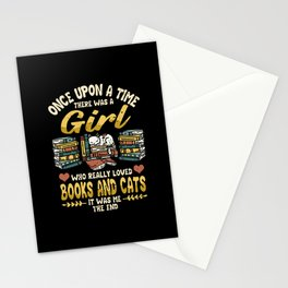 Read Book Books Funny Cat Saying Gift Stationery Cards