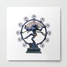 Shiva Nataraj, Lord of Dance (an actual factual fractal) Metal Print