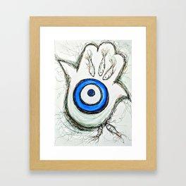 "Hamsa ""Safely Tethered"" Framed Art Print"