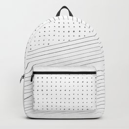 Geometric lines and points Backpack