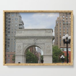Washington Square Park Arch in June Serving Tray