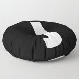 letter J (White & Black) Floor Pillow