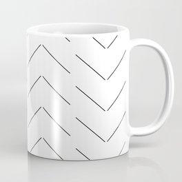 LINEd_HerringboneFew_BW Coffee Mug