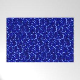 Hyperlink Deep Blue – '90s Water Graphics Welcome Mat