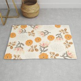 Modern Vintage Orange Blossoms Rug