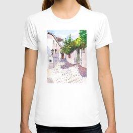 Lively Greek Island Street - Greece T-shirt