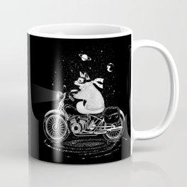 A fox rides a motorcycle Coffee Mug