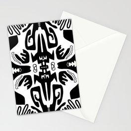 Black + white mirror Stationery Cards
