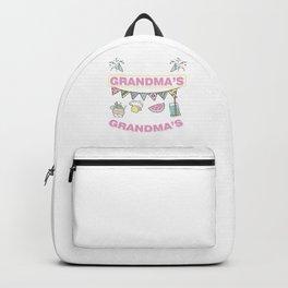 Birthday Celebration Funny What Happens At Grandma's Stays At Grandma's Gift Backpack