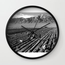Farm workers and Mt. Williamson Wall Clock