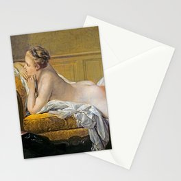 "François Boucher ""Nude on sofa (Miss O Murphy)"" Stationery Cards"