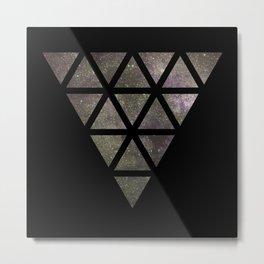 Galaxy Triangular Bicolor Metal Print