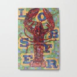 Lobster No. 2 (Nephropidae) Metal Print