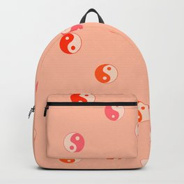 Ying and yang pink pattern  Backpack