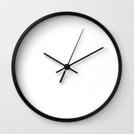 My Head and My Heart Internet Funny T-shirt Wall Clock