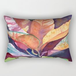 Colorful Tropical Leaves 3 Rectangular Pillow