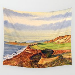 Pacific Dunes - On Bandon Dunes - Golf Course 13th Hole Wall Tapestry
